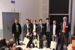 L'équipe du Havre accompagnée du jury
